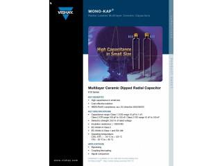 Condensateurs céramique VISHAY NPO et X7R 50V Radiaux